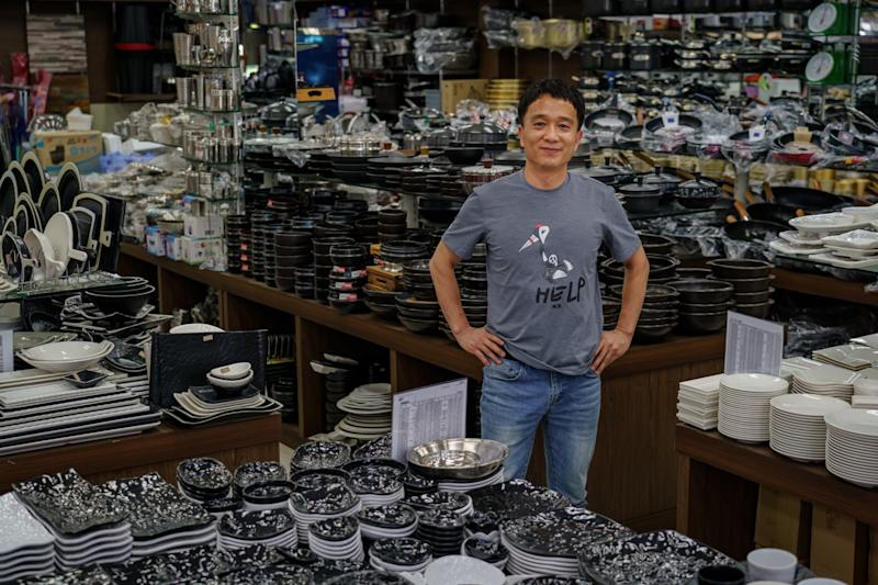 Yu Han-yeul, a kitchen goods store owner in Chuncheon.
