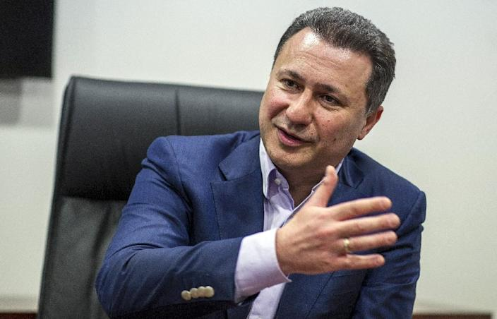 Nikola Gruevski -- the president of Macedonia's ruling party -- predicted the country could face two general elections in coming months, during an interview with AFP in Skopje, on May 13, 2016 (AFP Photo/Robert Atanasovski)