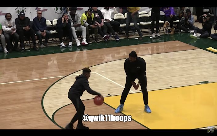 LeBron James' youngest son Bryce Maximus, 12, was recently seen playing one-on-one on Miami Heat legend Dwyane Wade during halftime of Sierra Canyon's matchup with Rancho Christian. The 12-year-old put on a jump shooting clinic.
