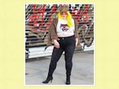 """<p>Try out the print by accessorizing with leopard hats, shoes, and of course a statement jacket like this one from <a rel=""""nofollow noopener"""" href=""""https://www.simplybe.com/en-us/products/leopard-print-textured-biker/p/ZG683#v=color%3AZG683_BROWN%20PRT%7C"""" target=""""_blank"""" data-ylk=""""slk:Simply Be"""" class=""""link rapid-noclick-resp"""">Simply Be</a>, $115. (Photo: <a rel=""""nofollow noopener"""" href=""""https://www.instagram.com/margieplus/?hl=en"""" target=""""_blank"""" data-ylk=""""slk:Margie Ashcroft"""" class=""""link rapid-noclick-resp"""">Margie Ashcroft</a> via Instagram) </p>"""