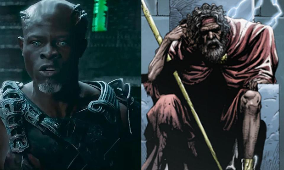 <p>Djimon Hounsou has played Korath the Pursuer in the MCU since 2014's <em>Guardians of the Galaxy</em> and will return in <em>Captain Marvel</em>. He's also just been cast as the Wizard in DC's <em>Shazam!</em> movie. </p>