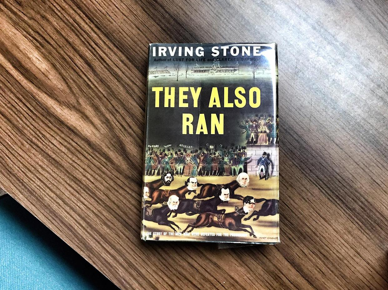 Irving Stone's 1943 book, They Also Ran, inspired the museum. (Photo: Holly Bailey/Yahoo News)