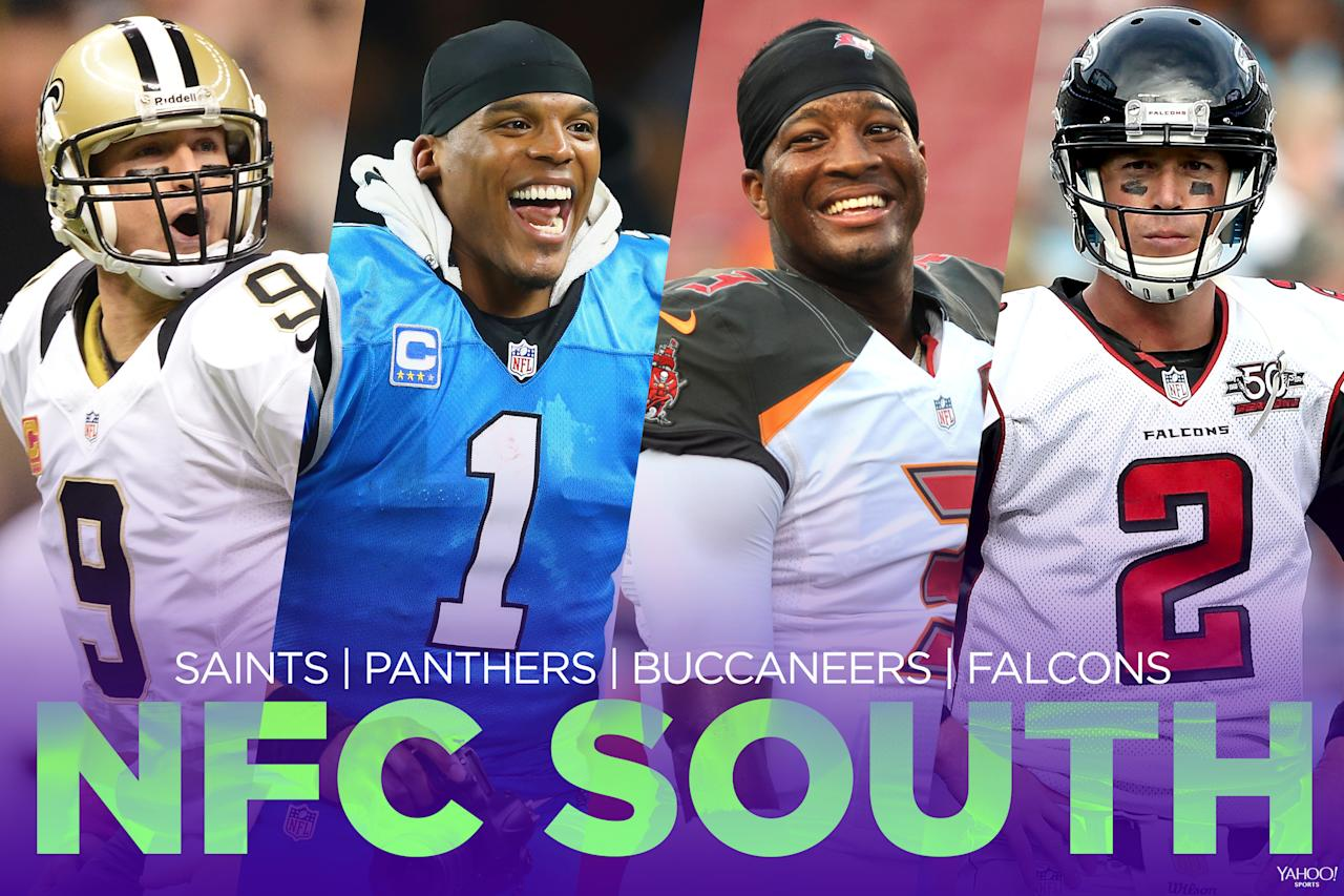<p>This division might not be the best, but it might be the most fun to watch. A division with Jameis Winston (Tampa Bay Buccaneers), Cam Newton (Carolina Panthers), Drew Brees (New Orleans Saints) and Matt Ryan (Atlanta Falcons) and some questionable secondaries should lead to some fun shootouts. It's also a deep division in which all four teams should be competitive. </p>