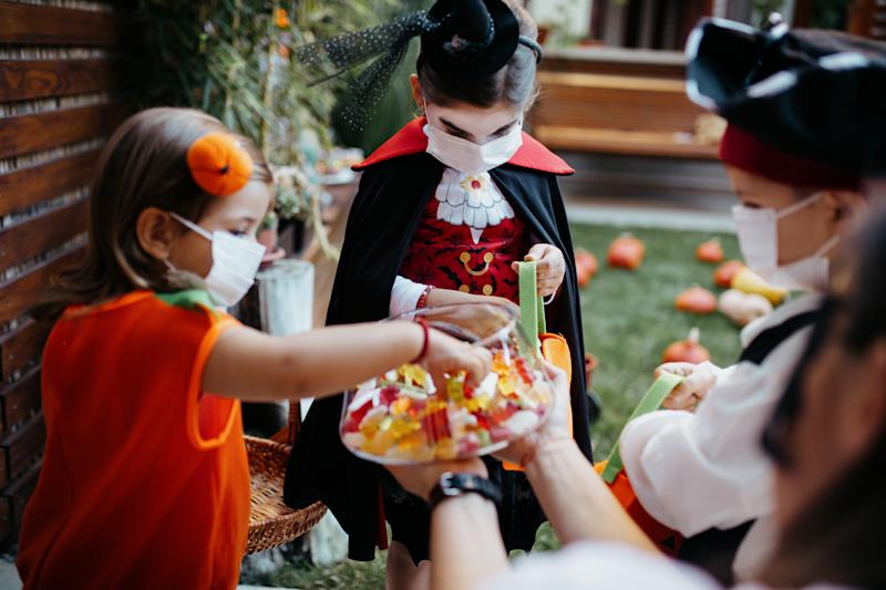 "Worried about how to celebrate Halloween safely? The CDC issued guidance on which activities are considered ""lower-risk"" and which should be avoided. (Photo: Getty Images)"