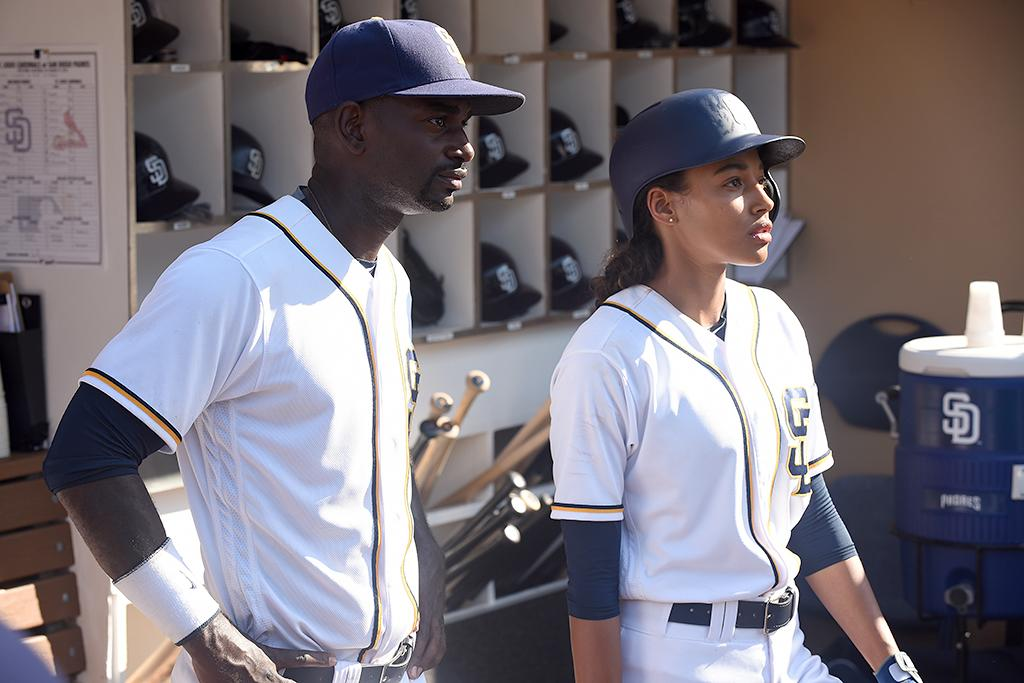 """<p><b>Length:</b> 1 season, 10 episodes<br /><b>Why you should watch:</b> It was the other new, excellent ensemble drama from <em>This Is Us</em> creator Dan Fogelman this fall. <em>Pitch</em> stars our reader-voted <a rel=""""nofollow"""" href=""""https://www.yahoo.com/tv/yahooies-2016-outlander-us-richonne-slideshow-wp-171251333/photo-p-em-us-em-dan-photo-171251699.html"""">Breakout Star of 2016</a>, Kylie Bunbury, as Ginny Baker, the first female pitcher in the major leagues. Over the course of Season 1 (which you can binge in full to help fuel a renewal, please), we see the pressures — and perks — of being a trailblazer unfold. We also see Mark-Paul Gosselaar in one of his best TV roles to date as gruff veteran catcher Mike Lawson, who's dealing with the twilight of his career and attractions to both Ginny and his ex; a juicy role for Ali Larter as Ginny's agent, Amelia, who we'd happily watch in a spinoff; and one of the fall's best new couples (Mo McRae's center fielder Blip and his wife, Meagan Holder's Evelyn, who've become Ginny's family). <br /><b>Where you can watch:</b> On Demand, Fox Now, and Hulu. —<em>Mandi Bierly</em><br /><br />(Credit: Ray Mickshaw/Fox) </p>"""