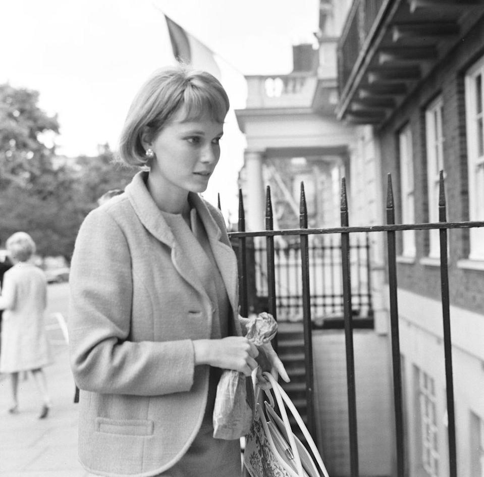 <p>Farrow is photographed in London, sporting a grown-out hairstyle. But as it turns out, the actress was simply wearing a wig for a role. </p>