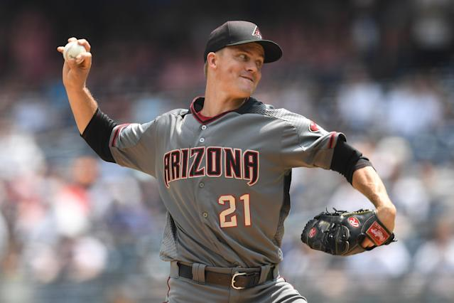 Zack Greinke is an Astros and the Astros are World Series favorites. (Photo by Sarah Stier/Getty Images)