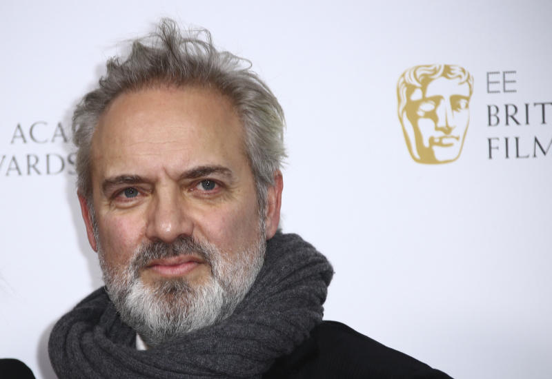 Director Sam Mendes poses for photographers upon arrival at the Bafta Nominees Party, in central London, Saturday, Feb. 1, 2020. (Photo by Joel C Ryan/Invision/AP)