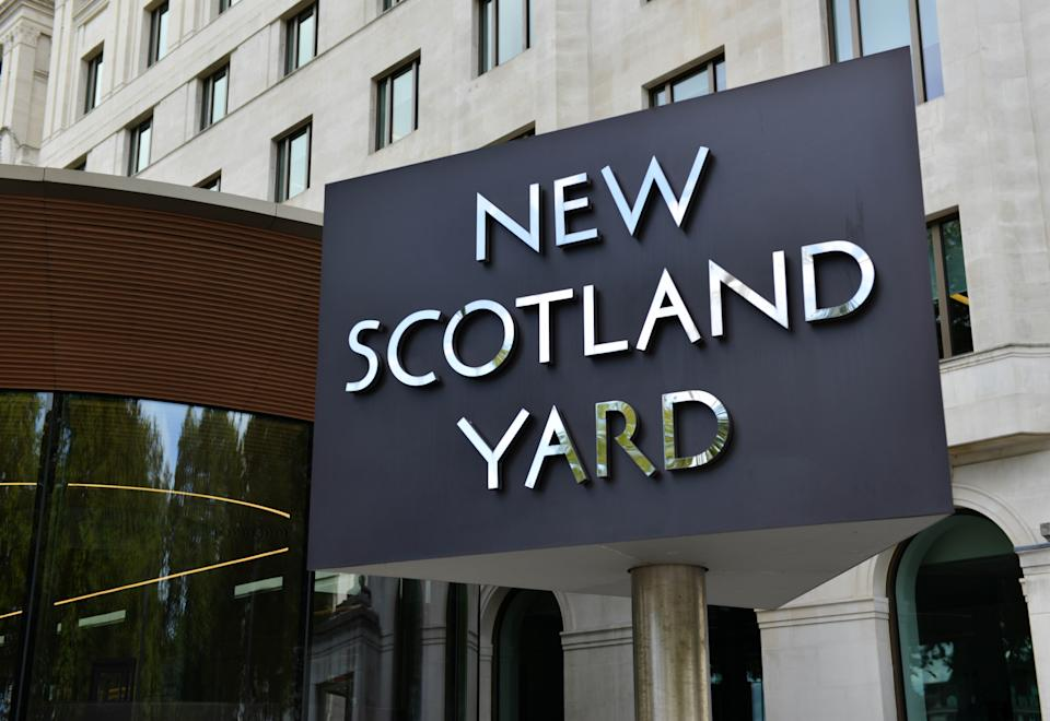 New Scotland Yard in Westminster, London. (Photo by Thomas Krych / SOPA Images/Sipa USA)