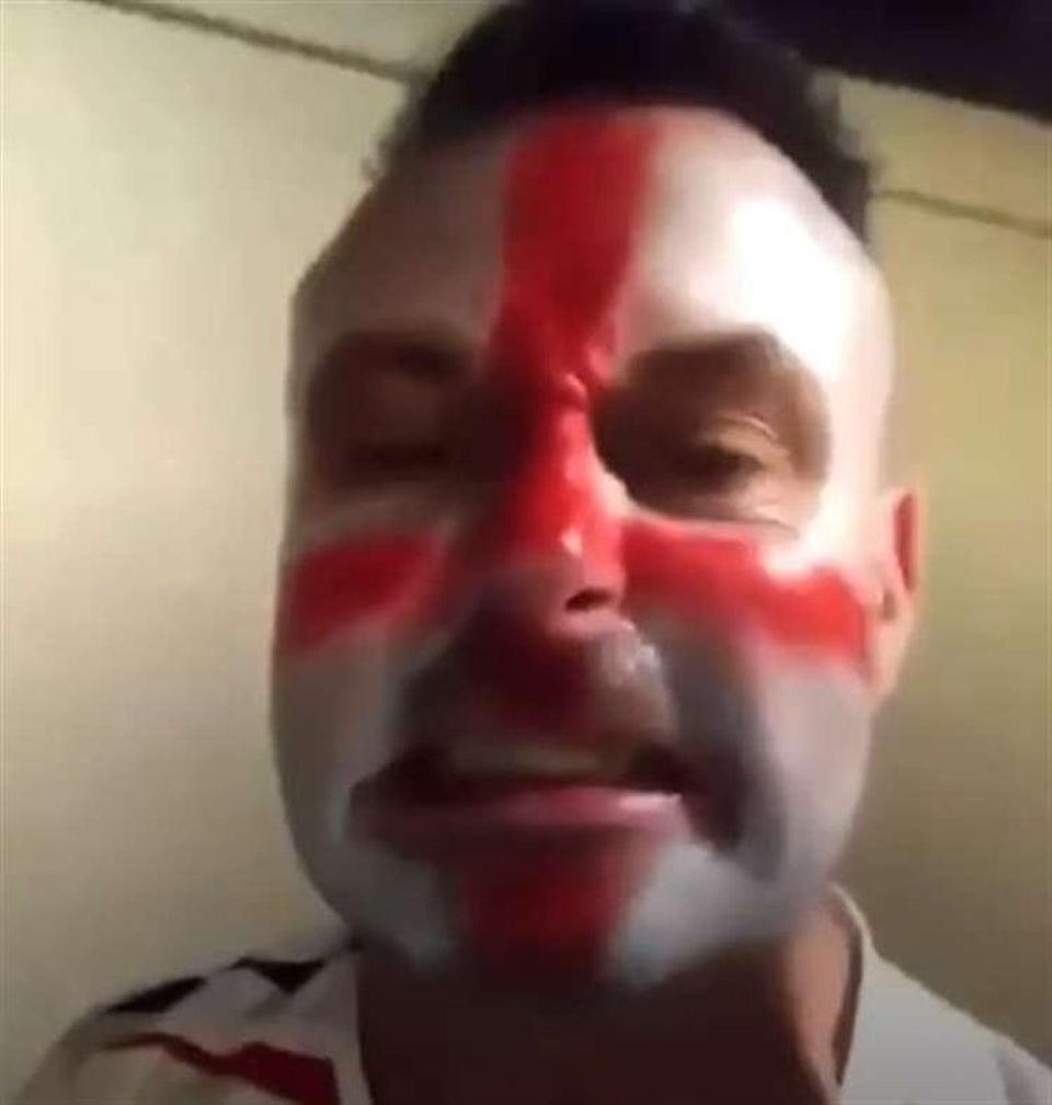 Bradford Pretty in the racist video posted after the Euro 2020 final (Facebook)