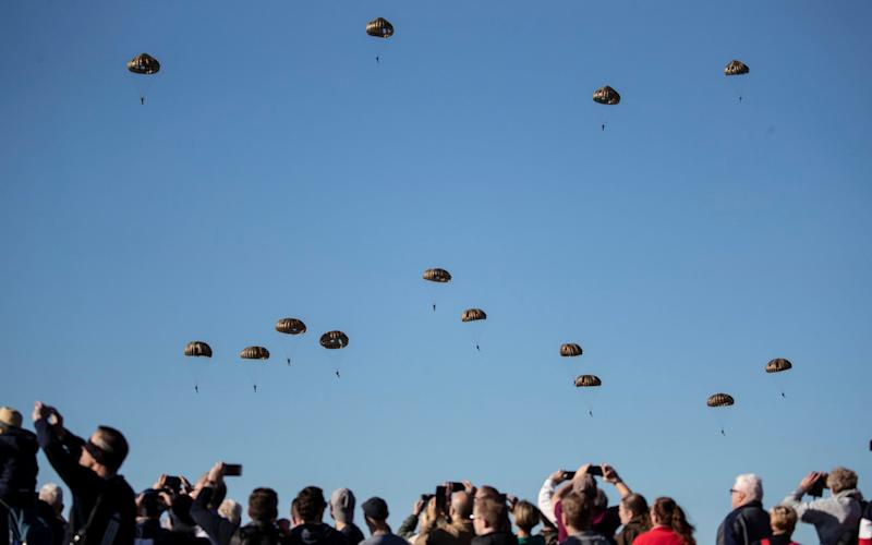 The parachute drop to mark the 75th anniversary of Operation Market Garden - Copyright ©Heathcliff O'Malley , All Rights Reserved, not to be published in any format without p