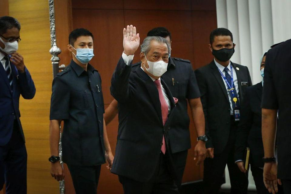 Prime Minister Tan Sri Muhyiddin Yassin is pictured at Parliament in Kuala Lumpur July 20, 2020. — Picture by Yusof Mat Isa