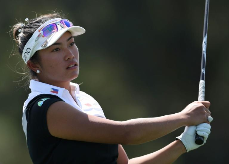 Thailand's Patty Tavatanakit of Thailand on the way to a one-shot lead after the first round of the ANA Inspiration, first LPGA major championship of the year