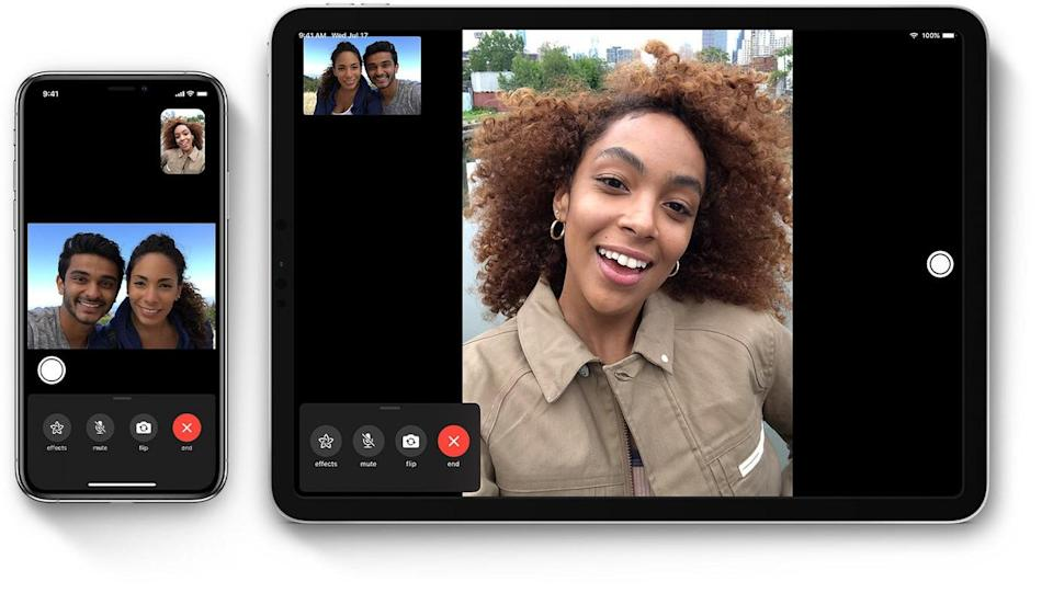 Apple FaceTime feature on iPhone and iPad