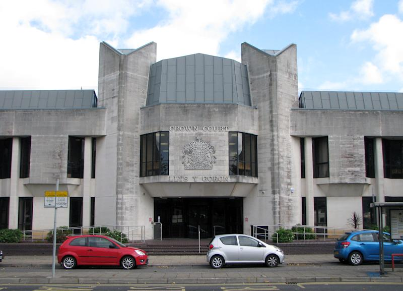 A general view of Swansea Crown Court in Swansea, Wales.