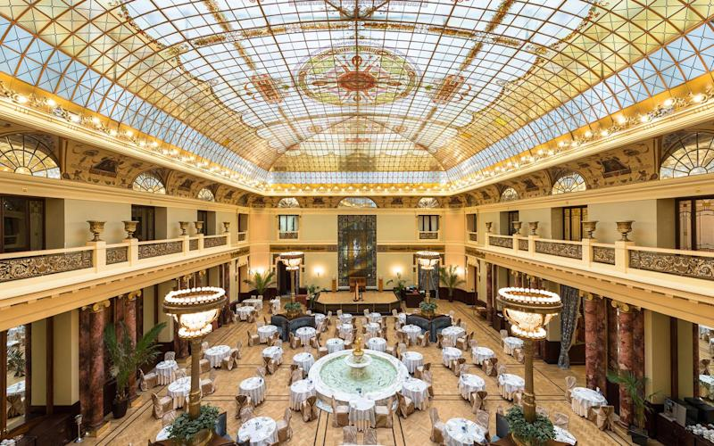 The main dining room at Metropol Hotel is a destination in its own right; past patrons include Lenin, Stalin and King Juan Carlos of Spain - ©2012, Yuri Palmin