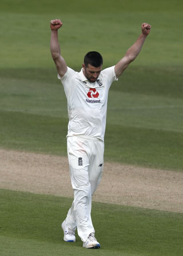 Mark Wood wrapped up the West Indies innings by dismissing Shannon Gabriel