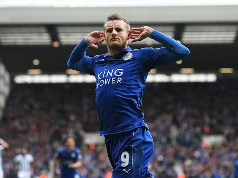 Jamie Vardy maintained his rich vein of scoring form to secure an important three points: Getty