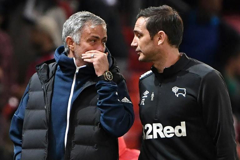 Jose Mourinho (left) is going head to head with Frank Lampard at Stamford Bridge