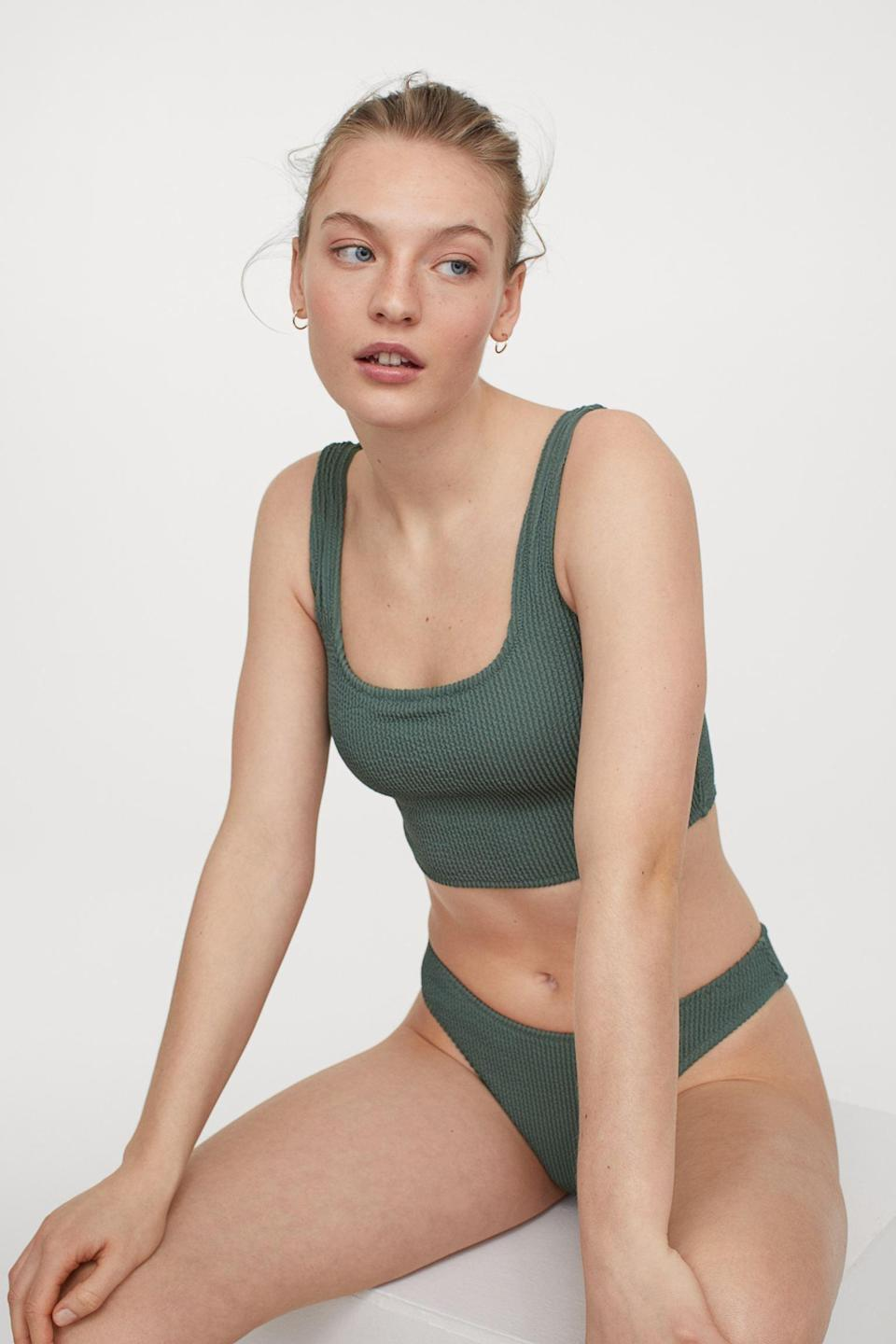 <p>This <span>Bikini Top</span> ($20) can easily be turned into a casual top for everyday occasions. Pair it with these <span>Bikini Bottoms</span> ($13) for a relaxing beach day.</p>