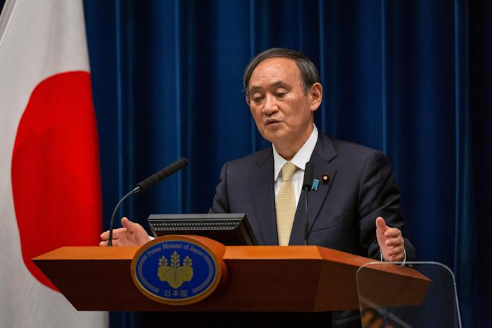 Yoshihide Suga has declared a third state of emergency in Tokyo (Getty Images)