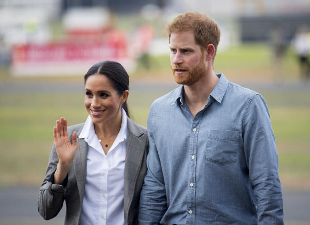 Meghan and Harry in Dubbo, Australia last October. [Photo: PA]
