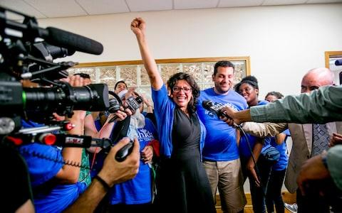 Rashida Tlaib called Donald Trump 'a direct and serious threat to our country' - Credit: Anthony Lanzilote/The New York Times