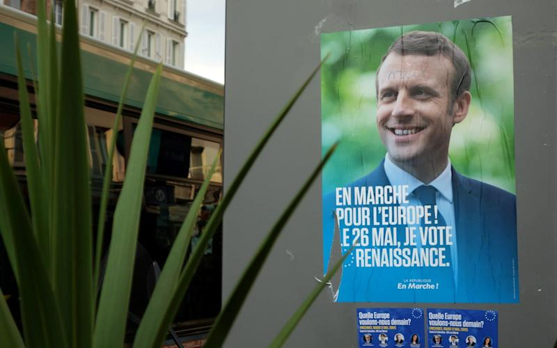 President Emmanuel Macron of France has warned that the EU risks 'coming apart' if nationalists make strong gains in EU elections - REUTERS