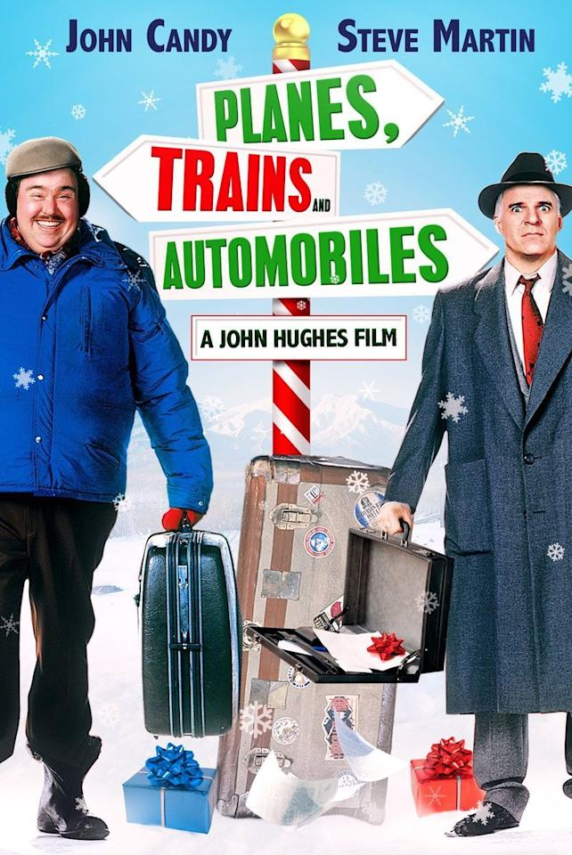 "<p>Funny men John Candy and Steve Martin team up for a classic holiday tale gone awry in <em>Planes, Trains, and Automobiles. </em>Released in 1987, this film features these two comedians at their best: as rivals trapped in the car on their way home for the holidays.</p><p><a class=""body-btn-link"" href=""https://www.amazon.com/Planes-Trains-Automobiles-Steve-Martin/dp/B002S30PS4/?tag=syn-yahoo-20&ascsubtag=%5Bartid%7C10055.g.1315%5Bsrc%7Cyahoo-us"" target=""_blank"">WATCH NOW</a></p>"