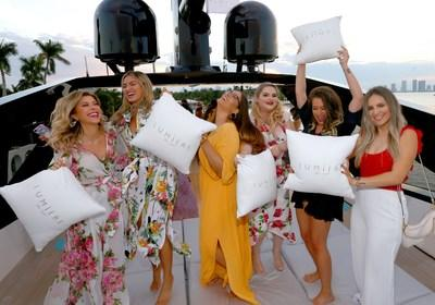 Influencers having fun at the Lumiere de Vie Resort event in Miami Beach