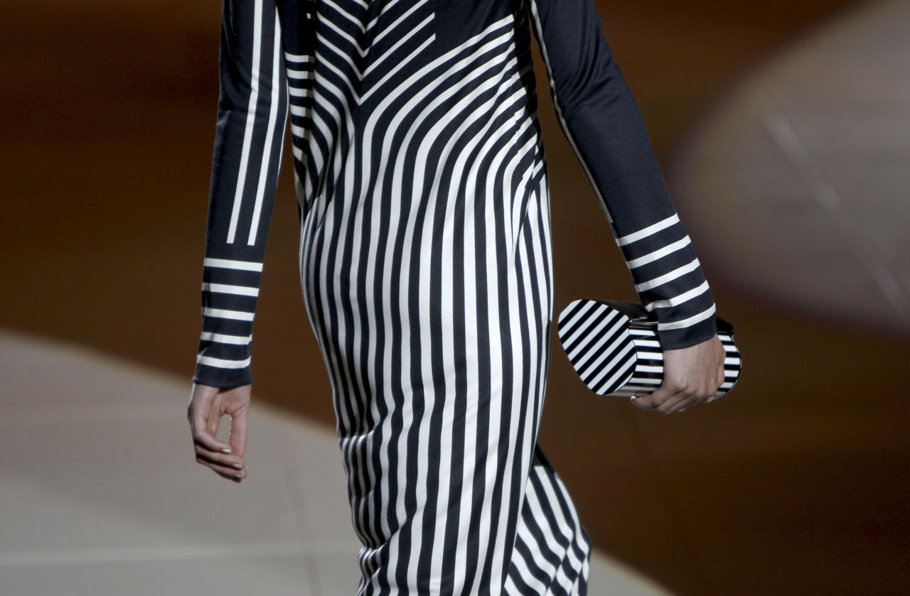 The Marc Jacobs Spring 2013 collection is modeled during Fashion Week in New York, Monday, Sept. 10, 2012. (AP Photo/Seth Wenig)