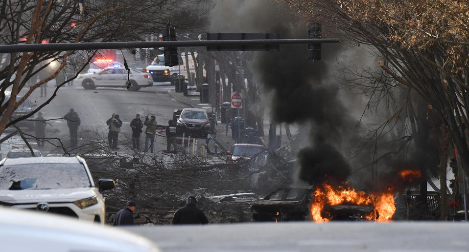 Nashville police officers have shared the horror of the Christmas Day blast which has rocked the city. Source: AP