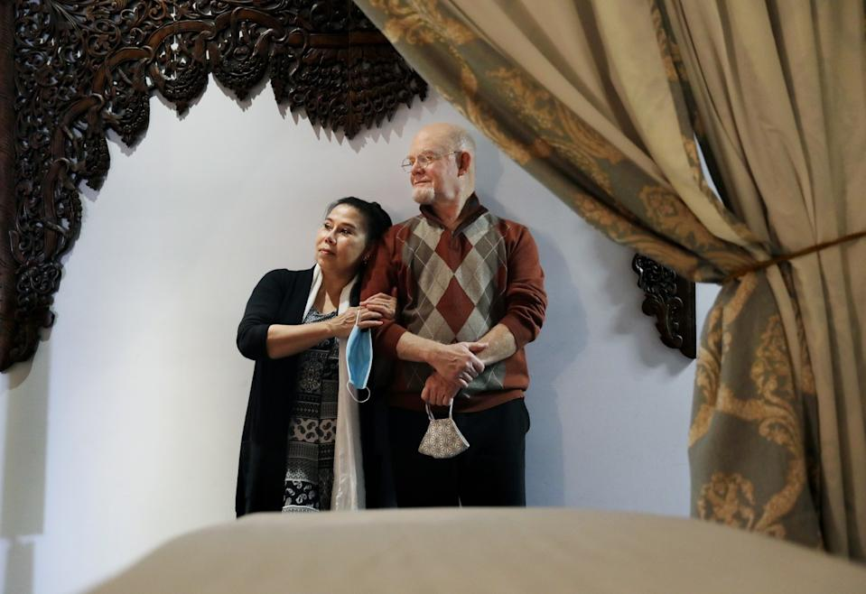 David and Chanispha St. James at their business Royal Thai Massage and Beauty in Los Angeles