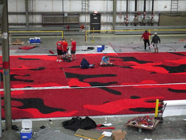 Incarnate Word will debut college football's first camouflage end zones this fall. (Twitter/Brian Wickstrom)