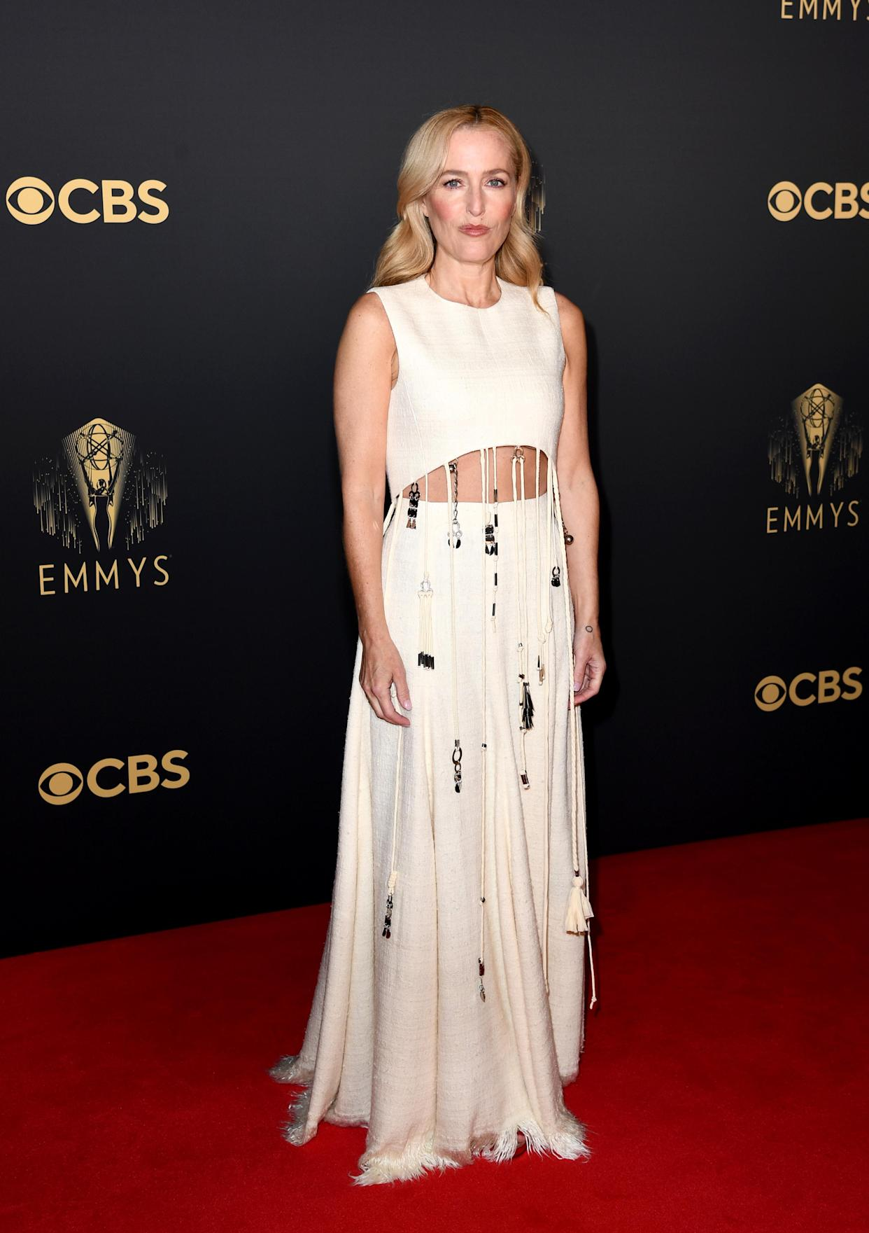 The actor wore a cut-out dress by Chloe. (Getty Images)