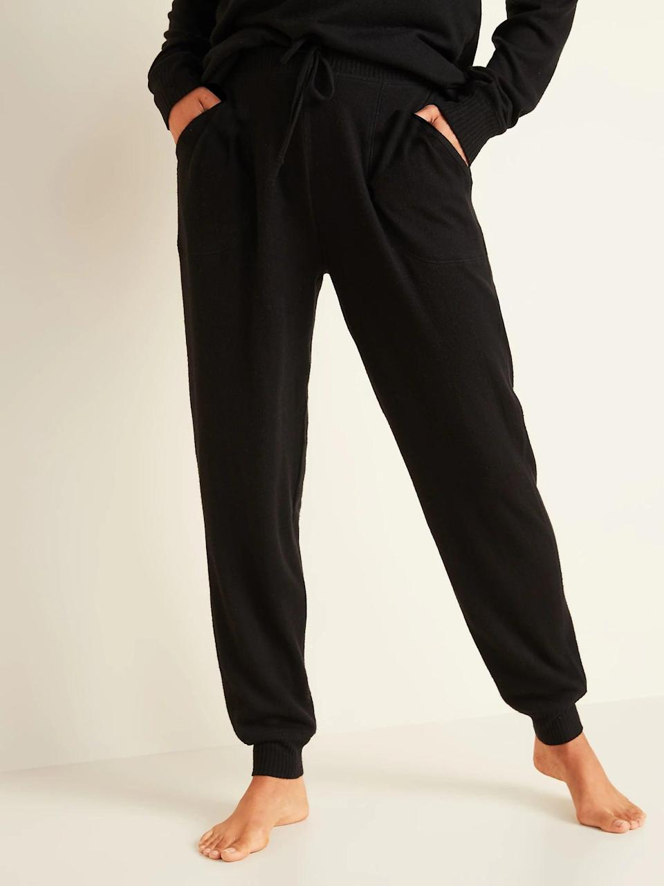 <p>Match these cozy <span>Old Navy Mid-Rise Plush-Knit Jogger Pajamas</span> ($18, originally $30) up with a <span>short-sleeve top</span> now and a <span>longer one</span> when temperatures drop.</p>