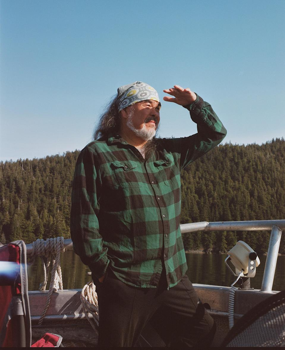 Dune Lankard on his boat, the Noctaluka.