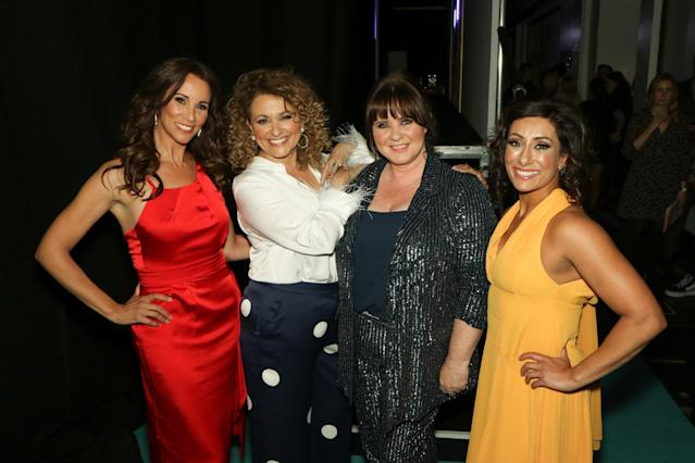 Presenters of the ITV show 'Loose Women', from left to right Andrea McLean, Nadia Sawalha, Colleen Nolan and Saira Khan. (Photo by Tim Roney/Getty Images)