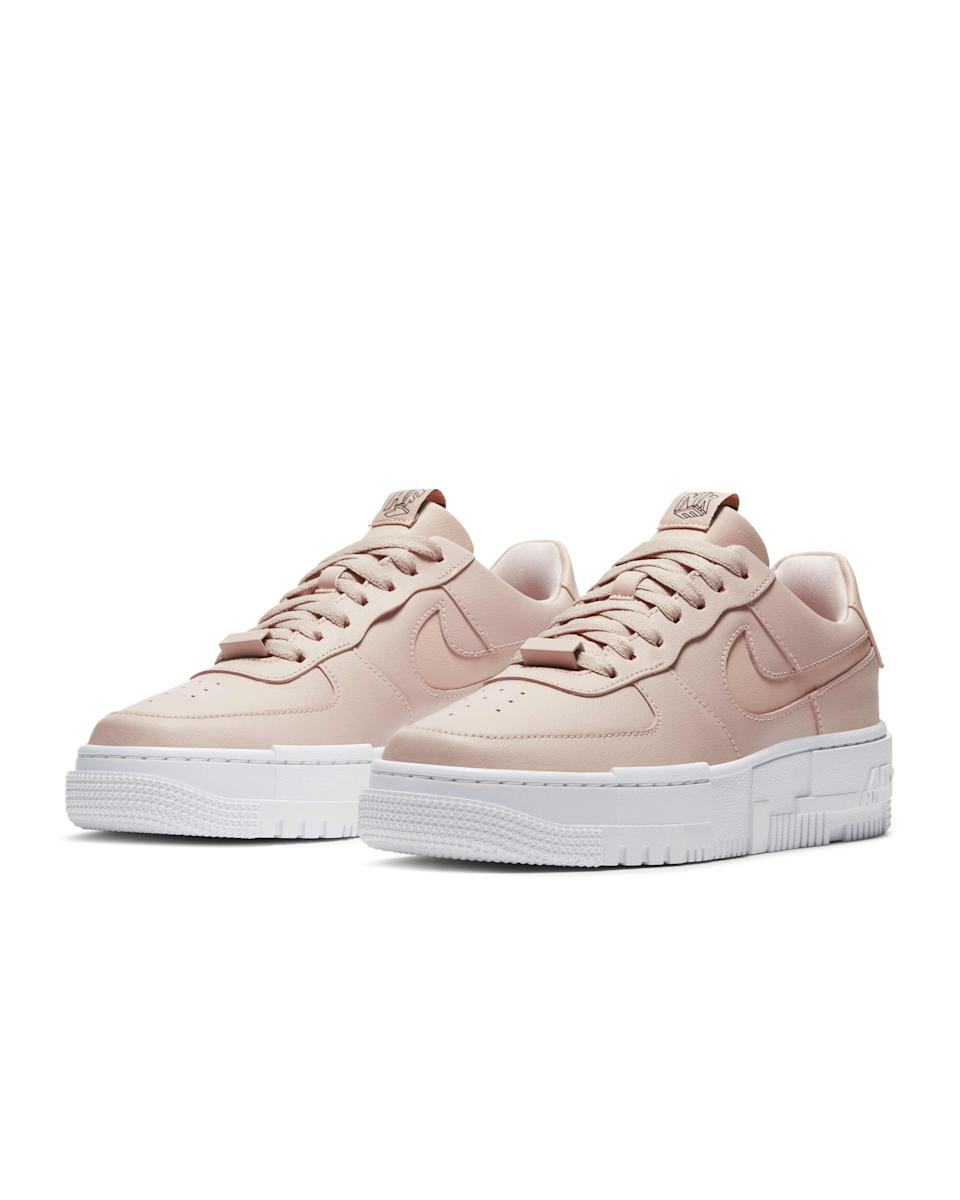 """<p><strong>Nike</strong></p><p>nike.com</p><p><strong>$100.00</strong></p><p><a href=""""https://go.redirectingat.com?id=74968X1596630&url=https%3A%2F%2Fwww.nike.com%2Ft%2Fair-force-1-pixel-womens-shoe-gh10GN&sref=https%3A%2F%2Fwww.seventeen.com%2Ffashion%2Ftrends%2Fg35256812%2Fsneaker-trends-2021%2F"""" rel=""""nofollow noopener"""" target=""""_blank"""" data-ylk=""""slk:Shop Now"""" class=""""link rapid-noclick-resp"""">Shop Now</a></p><p>I probably didn't need to add this one to the list, because I'd bet money you're wearing a pair as you read this. But, yeah, in 2021, your Air Force 1s will be just as trendy, so you might as well buy another pair. </p>"""