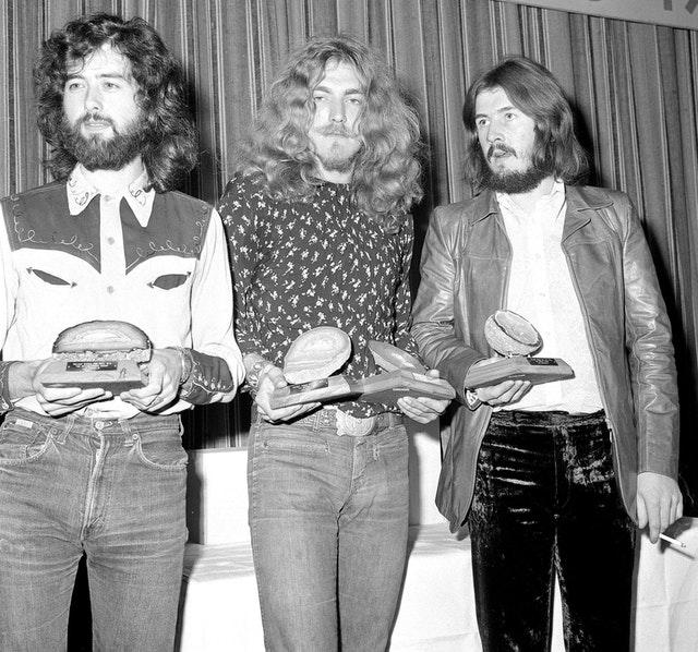 Jimmy Page, Robert Plant and John Bonham