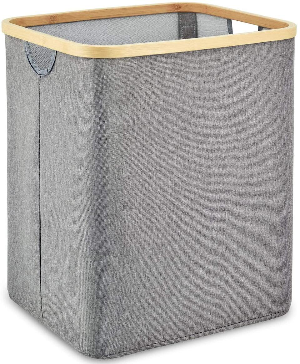 <p>This <span>Zestilk Laundry Basket With Dual Built In Handles</span> ($23) is both stylish and space-saving.</p>