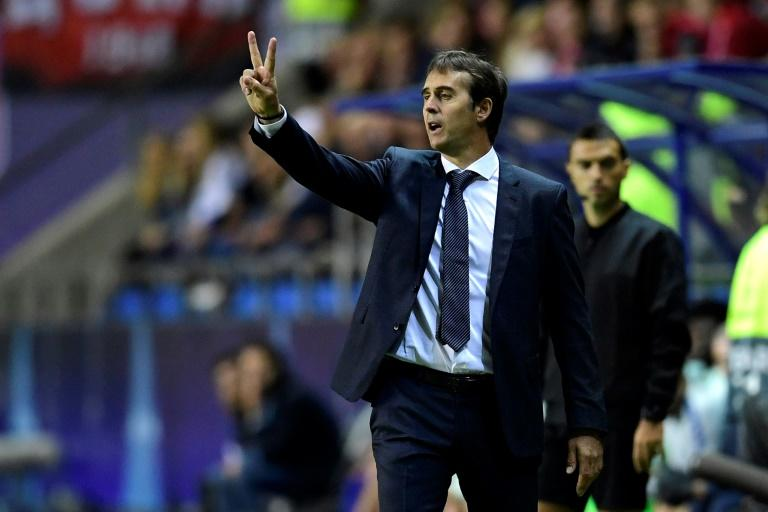 Julen Lopetegui was taking charge of his first competitive game as Real Madrid coach