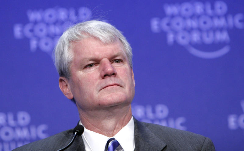 Brian Baird speaks at a session of the 2009 World Economic Forum in Davos, Switzerland.