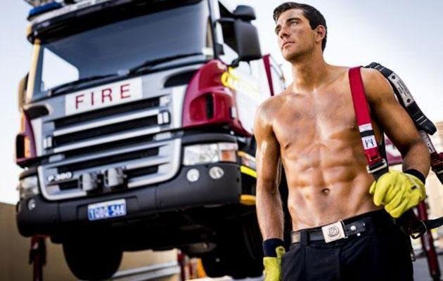 Cam posed for a firefighters calendar to raise money for charity. Source: Network Ten