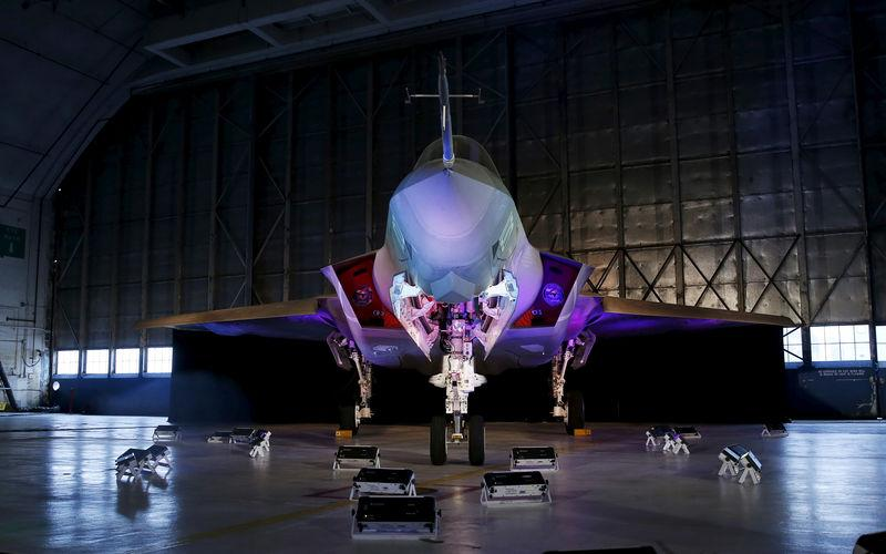 FILE PHOTO: Lockheed Martin F-35 fighter jet at Patuxent River Naval Air Station in Maryland