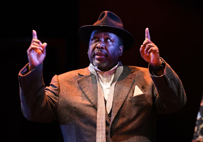 Wendell Pierce appears on stage in Death of a Salesman, Piccadilly Theatre, West End, London . Photo credit should read: Doug Peters/EMPICS
