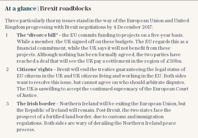 At a glance | Brexit roadblocks