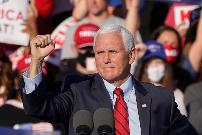 <p>File image: Mike Pence during a rally in Georgia</p> (The Associated Press)