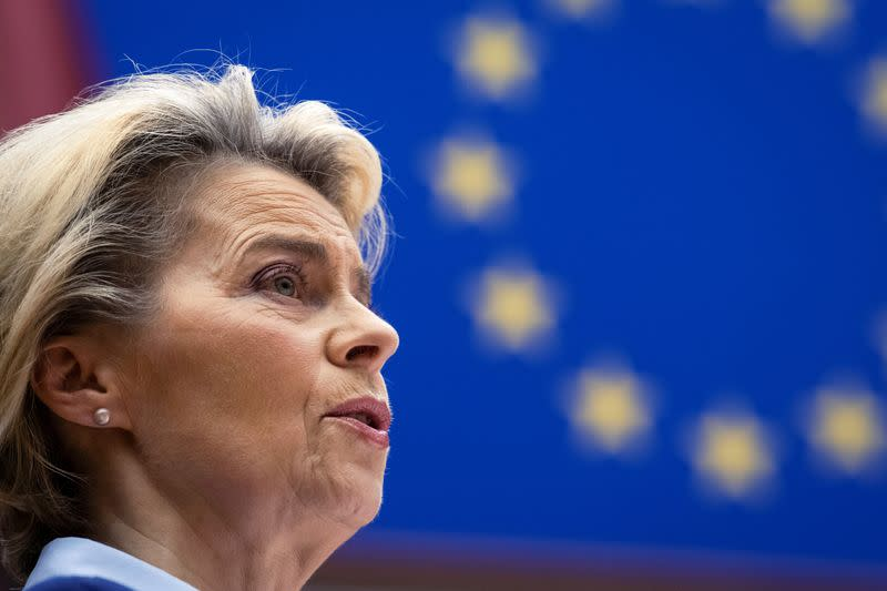 FILE PHOTO: European Commission President Ursula von der Leyen