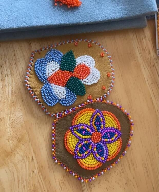 Velma Olson put a call out for people to contribute beaded moccasin tops. She says she was amazed by the more than 2,500 responses to her Facebook post.